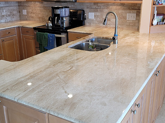 Marble Kitchen Beautifully Restored